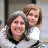 Rebecca Gelsi and her daughter Arabella, 10. They are planning on a simpler school workload.