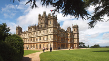 Highclere Castle is the main filming location for Downton Abbey.