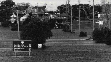 Windsor under flood in 1988.