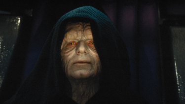The sinister Emperor Palpatine, played by Ian McDiarmid, in Star Wars.