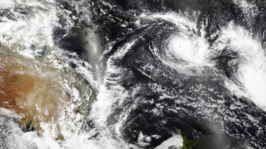 Cyclone Yasa over Fiji.