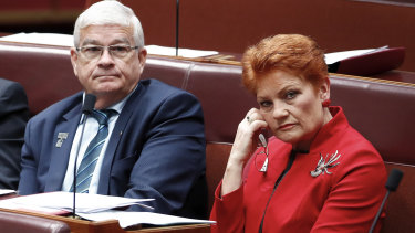 The political relationship between Brian Burston and Pauline Hanson has been destroyed.