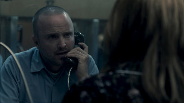 Aaron Paul as Warren Cave in Truth Be Told.