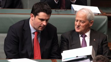 December 2013: Andrew Hirst speaks with Chief Government Whip Philip Ruddock.