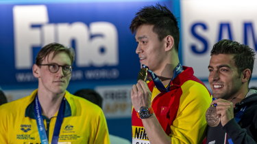 Mack Horton refused to stand on a podium with Sun Yang at the world championships and may have done the same in Tokyo.