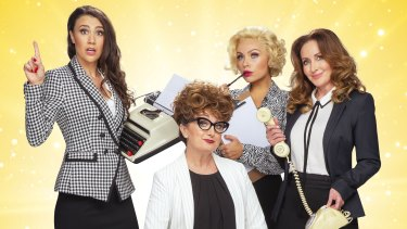 Stars of 9 to 5: The Musical (from left) Samantha Dodemaide, Caroline O'Connor, Erin Clare and Marina Prior.