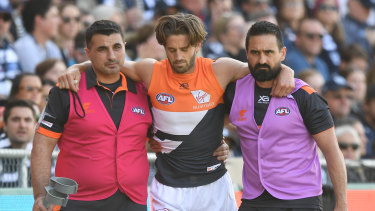 The Giants have had a series of injuries to key players, including co-captain Callan Ward back in round four.