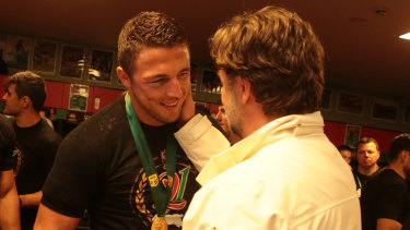 Mending bridges: Russell Crowe has issued some kind words about Sam Burgess.
