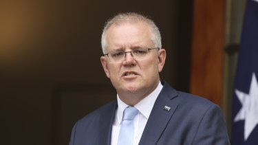 """Prime Minister Scott Morrison said in September that he would try and get """"as many people home"""" by Christmas."""