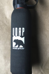 Bear spray, a chemical irritant, has previously been seized from protesters by police.