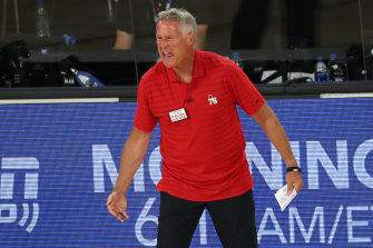Sacked: Philadelphia coach Brett Brown.