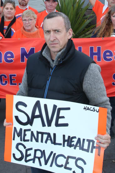 Paul Healey from the Health and Community Services Union is concerned about chronic understaffing within Victoria's mental health services.