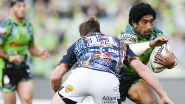 The Canberra Raiders take on the North Queensland Cowboys in Round 11 of the NRL.