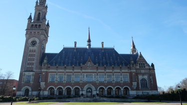 The International Court of Justice in the Hague, Netherlands.