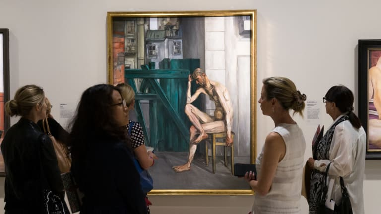 Nude exhibition at the Art Gallery of NSW in Sydney, 2016.