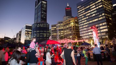 Perth Night Noodle Markets at Elizabeth Quay.