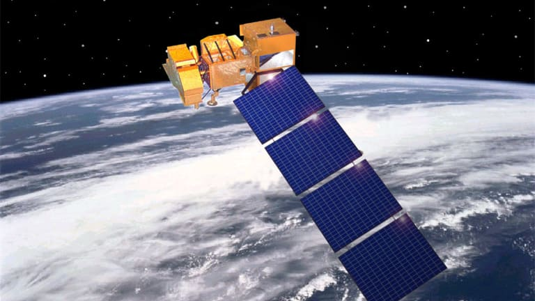 The Landsat 7 satellite, one of several satellites used to monitor land use.