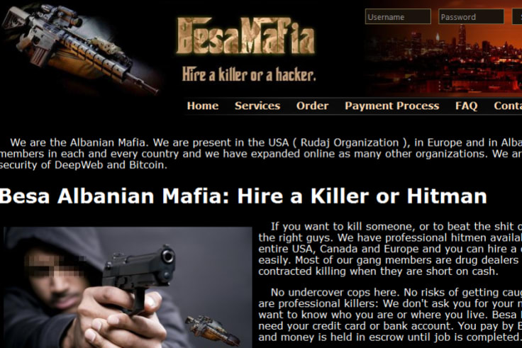 The Besa Mafia site boasted of offering killers for hire.
