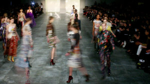 Katrantzou's move to seasonless fashion is shared by many designers tired of the relentless pace of fashion.