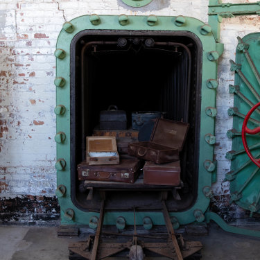 The autoclaves through which passenger luggage was sterilised at the quarantine station.