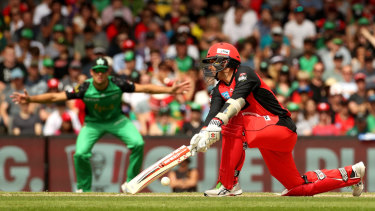 Tom Cooper of the Renegades bats during the Big Bash League final.