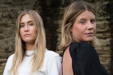 (L-R) Designers, Sophie Coote and Nikki Campbell, from Sir, are part of the We Wear Australian campaign to support Australian designers during the coronavirus pandemic. 8th April 2020 Photo: Janie Barrett