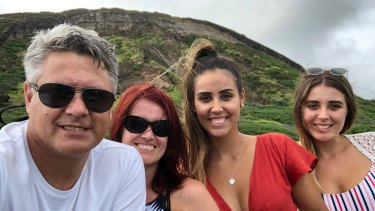 Left to right: Ben Berg, Lana (his wife of 25 years), his 21-year-old daughter Micayla and his 18-year-old daughter Lene.
