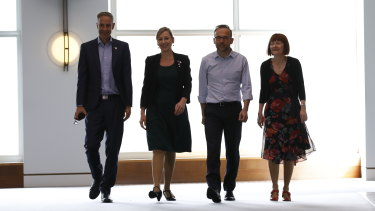 The Greens elected a new leadership team on Tuesday, including Nick McKim as co-deputy leader, Larissa Waters as co-deputy leader and Senate leader, Adam Bandt as leader and Rachel Siewert as party whip.