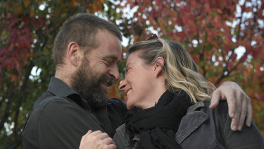IVF patient Emma Roberts and her partner Josh Skinner.