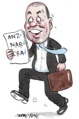 Treasurer Josh Frydenberg. Illustration: John Shakespeare