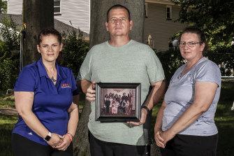 From left, Elizabeth Fusco, Joe Fusco and Maria Reid at Joe's home in  New Jersey.