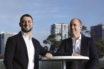 TechLend co-founders Aaron Bassin (L) and Nick Jacobs (R) .