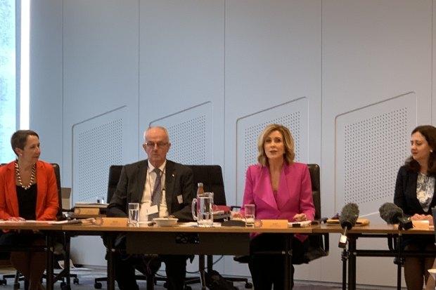 Di Farmer, Bob Atkinson, Kay McGrath and Premier Annastacia Palaszczuk open the Domestic and Family Violence Prevention Council meeting.