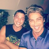 Daniel Taylor with his father John Ibrahim.