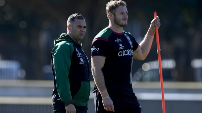 Top season: Anthony Seibold (left) is enjoying a successful first year as an NRL head coach.