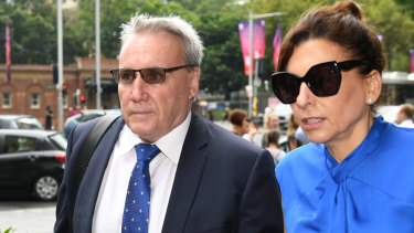 Michael Cranston arrives at the Downing Centre court in Sydney on Wednesday.