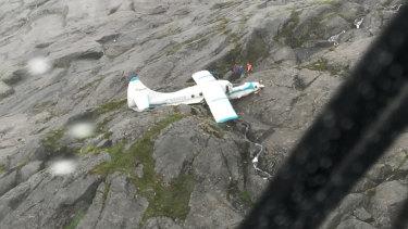 A seaplane crash near Ketchikan, Alaska, in 2018.