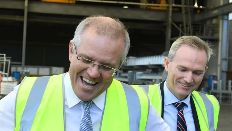 Prime Minister Scott Morrison, left, and Immigration Minister David Coleman.