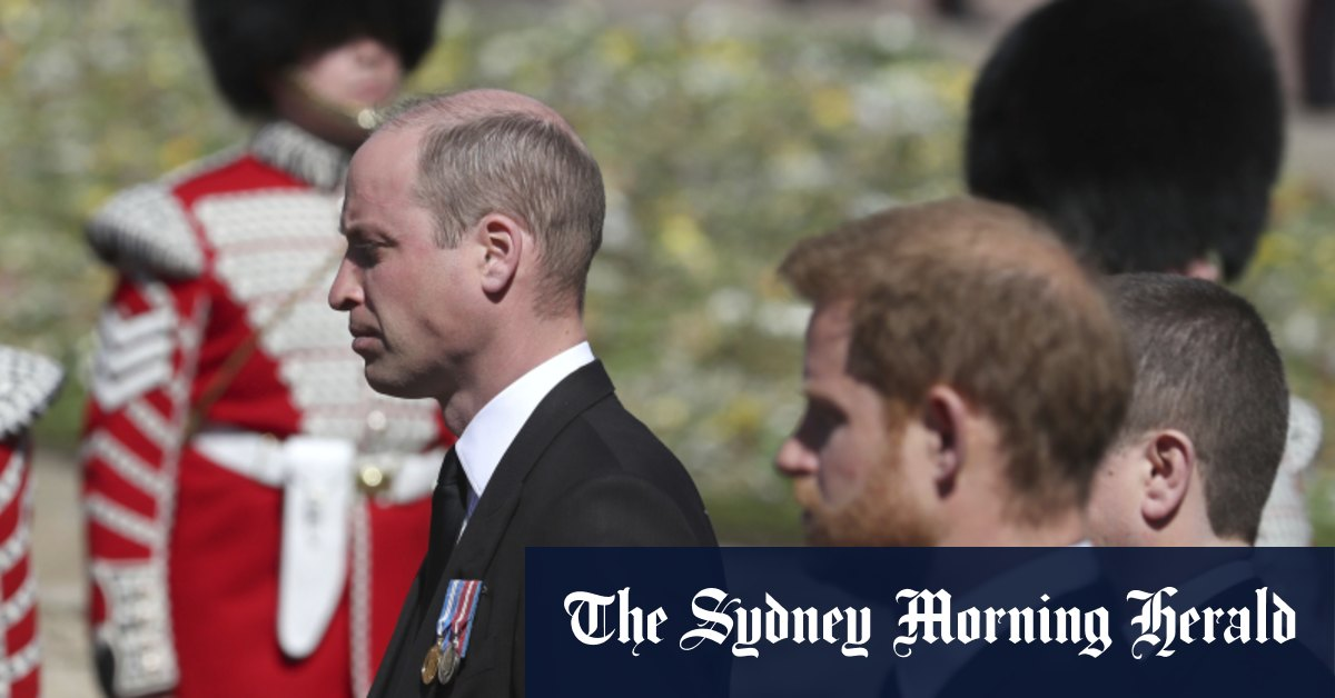 Harry and William share private chat as they leave Prince Philip's funeral – Sydney Morning Herald