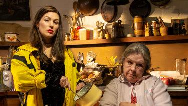 Yael Stone and Noni Hazelhurst in Sydney Theatre Company's Beauty Queen of Leenane.