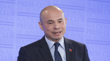 Wang Xining, deputy head of mission at the Chinese embassy in Australia, says Australia needs to take concrete actions to improve the relationship.