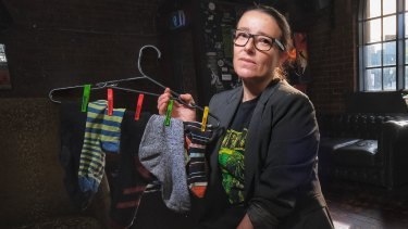 Tiffany Palermo, who held an Odd Sock Swap Meet at Bendigo Hotel, Collingwood, which she co-owns.