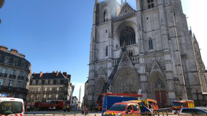 Arson suspected in fire at historic French cathedral in Nantes
