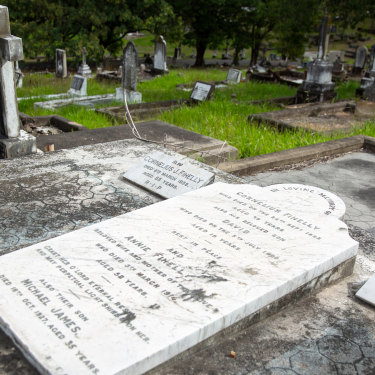 Teenager David Fihelly's final resting place at Toowong Cemetery.