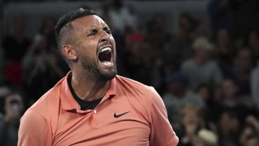 Kyrgios is still wearing his heart on his sleeve.