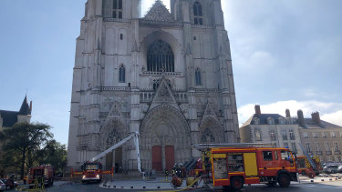 A 400-year-old organ and stained glass windows were destroyed in the blaze.