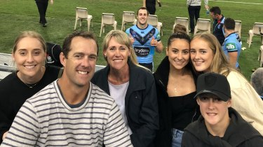 Family affair ... the Yeo family enjoy Isaah's Origin debut in game two last year.