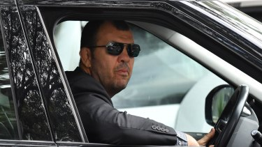Plenty to ponder: Wallabies coach Michael Cheika leaves Rugby Australia headquarters on Friday.