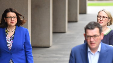 Daniel Andrews said he will not be resigning and that Ms Mikakos' resignation was appropriate.