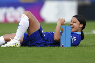 Australian Sam Kerr is set to feature for Chelsea in the women's Champions League final.